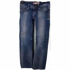 BKE Buckle Low Rise Bootcut Jeans Blue 24x26 Women